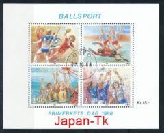 NORWEGEN Mi.Nr. Block  10 Tag Der Briefmarke - Ballsport -used