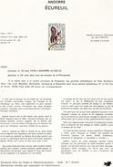 Andorre-1978-document De La Poste-Ecureuil ( N°1)