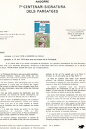 Andorre-1978-document De La Poste-Signature Des Paréages ( N°2)