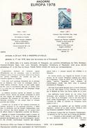 Andorre-1978-document De La Poste-Europa( N°3)