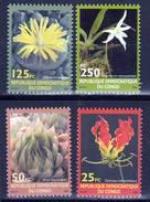Democratic Republic Of Congo 2002 MNH Flowers Set
