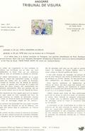Andorre-1978-document De La Poste-Tribunal De Visora ( N°5)