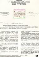 Andorre-1978-document De La Poste-Signature Des Paréages ( N°6)