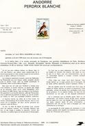 Andorre-1979-document De La Poste- Perdrix Blanche ( N°2)