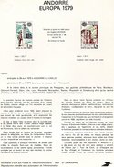 Andorre-1979-document De La Poste-Europa( N°3)