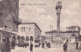 ITALIA - UDINE - PIAZZA VITTORIO EMANUELE, ANIMATA, TRAMWAY - Udine