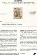 Andorre-1979-document De La Poste-fresque Romane De L'église De St Cerni De Nagol ( N°4)