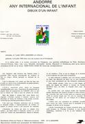 Andorre-1979-document De La Poste-Année Internationale De L'enfant ( N°5)