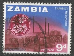 Zambia. 1964 Definitives. 9d Used. SG 100 - Zambia (1965-...)