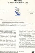 Andorre-1979-document De La Poste-Championnat Du Monde De Judo ( N°7)