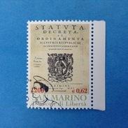 2000 SAN MARINO FRANCOBOLLO USATO STAMP USED - Fondazione Repubblica Statuti Repubblicani 0,62 - - San Marino