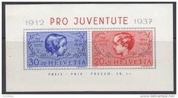 SCHWEIZ  Block 3, Postfrisch **, 25 Jahre Pro Juventute 1937