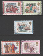GB 1982 Christmas. Used SG 1202-1206 Very Fine Used Set Of 5 - 1952-.... (Elizabeth II)