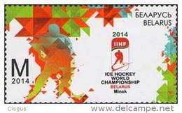 Belarus Weissrussland 2014 MNH ** Mi. Nr. 1000 Ice Hockey World Championship M