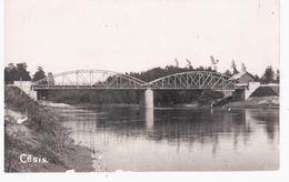 Cesis Brücke Bridge Railway Eisenbahn 1925 NICE OLD PHOTO 2 Scans - Lettonie