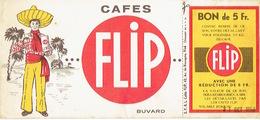 BUVARD Publicitaire 1958 - CAFES FLIP 42 Av. De Navagne à VISE - Kaffee & Tee