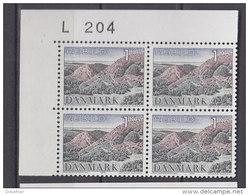 Dänemark, 524, 4erBlock, Postfrisch **, Naturschutz, 1972