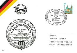 """PU 290Y D2/29  Heer - Panzerbrigade 33 """"Celle"""" - Tag Der Offenen Tür Am 20.06.1992 In Der Freiherr Von Fritsch Kaserne - BRD"""