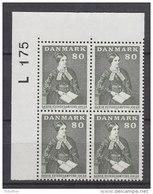 Dänemark, 507, 4erBlock, Postfrisch **,  100 Jahre Frauenrechtsorganisation, 1971