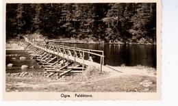 Ogre 1930 Bahnpost NICE OLD PHOTO 2 Scans - Lettonie