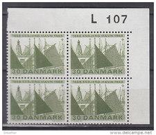 Dänemark, 467, 4erBlock, Postfrisch **, 100. Jahrestag Der Grundsteinlegung Zum Hafenbau In Esbjerg, 1968