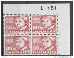 Dänemark, 510, 4erBlock, Postfrisch **,  Kinderhilfswerk, 1971