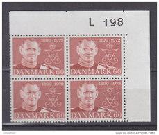 Dänemark, 520, 4erBlock, Postfrisch **, 73. Geburtstag Von König Frederik IX, 1972