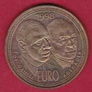 France - De Gaulle / Adenauer - 10 Euro - Essai - 1998 - Euros Of The Cities