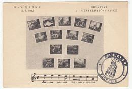 Croatia WWII NDH  1942 Stamp Day FD Postcard - STAMP MISSING B170520 - Croacia