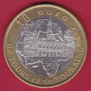 France - Chateau-Renault - 10 Euro - 1997 - Euros Of The Cities