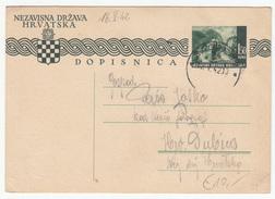 Croatia WWII NDH Postal Stationery Postcard Travelled 1942 Zagreb To Dubica B170520 - Croatia