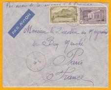 1938 - Enveloppe Par Avion De Salazie Vers Paris Via Pointe Des Galets, Tananarive Et Marseille - Réunion (1852-1975)
