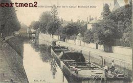 MONTARGIS VUE SUR LE CANAL  BOULEVARD DURZY 45 - Montargis
