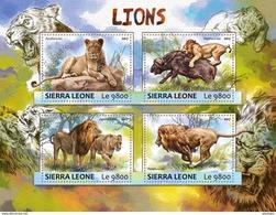 SIERRA LEONE 2017 - Lions, Buffalo. Official Issue.