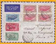 1938 - Enveloppe Air France Par Avion De Djibouti, C F Somalis Vers Paris - Cad Arrivée Paris Distribution - Lettres & Documents