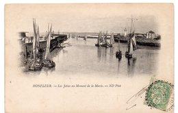 Calvados - HONFLEUR - Les Jetées Au Moment De La Marée - Dos Simple - Honfleur