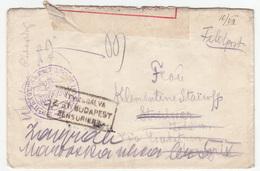 Hungary Bulgarian Jambolski Regiment Censored Fieldpost Feldpost Letter Travelled 1918 B170520 - Lettere