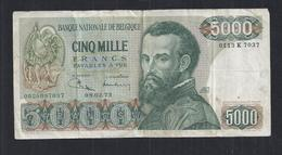 5000 Frank - Francs  - Type  Vesalius  M 108c  Zeer Fraaie Staat - [ 2] 1831-... : Koninkrijk België