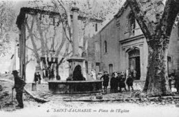 75Mé    83 Saint Zacharie Place De L'église En TBE - Saint-Zacharie