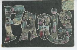 FEMMES - FRAU - LADY - Jolie Carte Fantaisie Femmes Dans Lettres De PARIS - Women