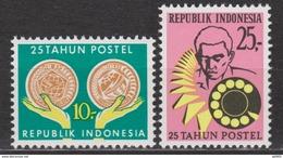 Indonesie 685-686 MNH 25 Jaar Indonesische Posterijen 1970 ; NOW MANY STAMPS INDONESIA VERY CHEAP - Indonesië