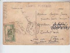 RT29.321 CACHET HEXAGONAL CUIRASSE CONDORCET 1938 ENVOYE DE SCHOELCHER. MARTINIQUE PLAGE ET CANOTS DE PECHE