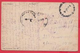 219393 / WW1 , Occupation SKOPIE Macedonia Censorship Lyaskovets  , Germany Art Constantin Holscher No 207 , Bulgaria