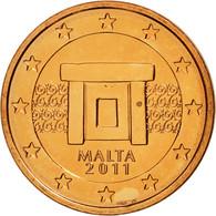 Malte, 2 Euro Cent, 2011, SPL, Copper Plated Steel, KM:126 - Malta