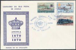 Angola Stamp Centenary Of Posta Stamp Set FDC Cover 1970 Mi 577-579 WS226871