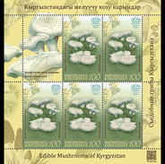 Kirgizië / Kyrgyzstan - Postfris / MNH - Sheet Paddenstoelen (100) 2017 - Kirgizië