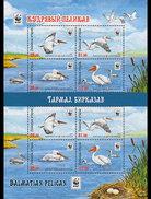 Kirgizië / Kyrgyzstan - Postfris / MNH - Sheet WWF Pelikaan 2017 - Kirgizië