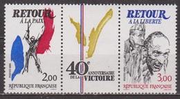 Anniversaire De La Libération - FRANCE - Retour à La Paix Et à La Liberté - N°2368-2369 ** - 1985 - Frankrijk