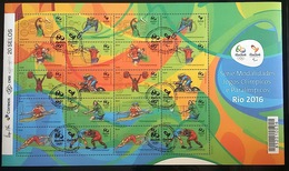 1st Special Issue 2015 Serie Modalities Olympics And Paralympics RIO 2016 HANDSTAMP - Brazilië