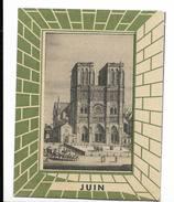 Loterie Nationale Juin 1948 Calendrier Format 8X10 Env Cm - Notre Dame De Paris - Calendars